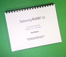 LASER PRINTED  Samsung Rugby lll User Manual Large-Font 190 Pages FREE SHIPPING