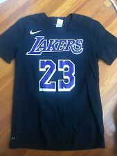 Nike Lebron James #23 reproductor de icono de los Angeles Lakers Oscuro Dri-Fit T-shirt M