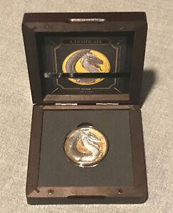 FAFNIR GEMINUS GOLD – GERMANIA BEASTS – 2020 5 MARK 1 OZ PURE SILVER GOLD GILDED