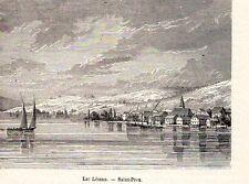SAINT PREX LAC LEMAN IMAGE 1880 PRINT