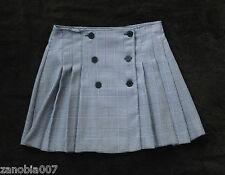 Eco Club of Paris Black & White Check Pleated Mini Skirt Size 9