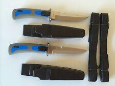 2 BLUE SCUBA DIVER DIVE KNIVES NAVY SEAL TYPE