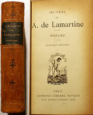 LAMARTINE/HARMONIES POETIQUES/ED LEMERRE/VERS 1886