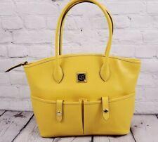 Dooney & Bourke Saffiano Leather Crescent Tote Bag Dandelion Summer Sunny Yellow
