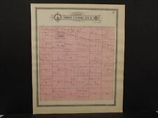 Nebraska Dawson County Map Wood River Township c.1904 J10#33