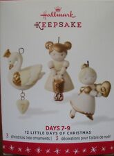 Hallmark 2016 Miniature Ornaments - 12 Little Days of Christmas - Days 7-9 - NEW