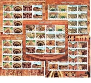 India 2017 Stepwell Architectural Heritage Architecture Full Complete sheetlets