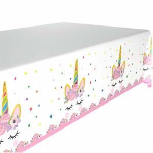 Polka Dot Sky Unicorn Themed Table Tablecloth Children's Happy Birthday Party UK