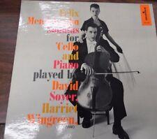 Felix Mendelssohn Sonatas for Cello and Piano 33 RPM MC-2045   092416LLE #2