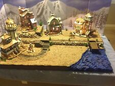 Christmas Village Display Platform, Lemax , Dept56 Ocean Scene
