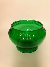 NAPCO green flower vintage glass vase/bowl/planter Cleveland,O Made in the USA