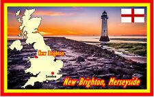 NEW BRIGHTON, MERSEYSIDE - SOUVENIR NOVELTY FRIDGE MAGNET - SIGHTS / FLAG / GIFT