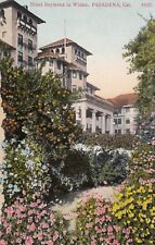 Old Postcard A174 Divided Litho Hotel Raymond in Winter Pasadena Ca Bosselman