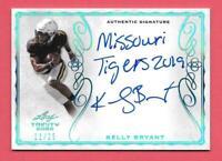 2020 Kelly Bryant Leaf Trinity Rookie Inscription Auto 11/25 - Missouri Tigers