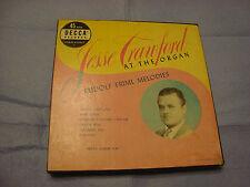 Decca Jesse Crawford At The Organ Rudolf Friml Melodies 45 RPM Boxed Set