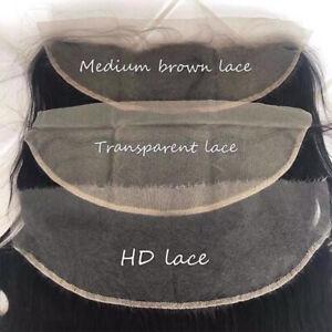 "Brazilian Virgin Hair  13""x4"" Transparent Lace Frontal 16""-22"""