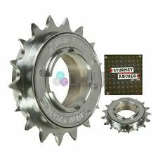 """Sturmey Archer Single Speed Freewheel Cog Chrome 1/2""""x 3/32"""" & 1/8"""", 18T Narrow"""