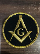BRAND NEW MASTER MASON ROUND PATCH, SQUARE AND COMPASS WITH G PATCH, MASONIC PAT