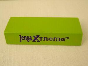 Jenga Xtreme Replacement Block Wood Single Piece 2003 Milton Bradley Game Green