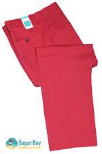 Nuevo Marks and Spencer SARTORIAL Pantalones Golf Algodón Oscuro Rojo Rosa
