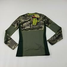 Under Armour Men's Shirt Fitted Small Mossy Oak Scent Control Hunting New