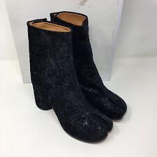 Maison Martin Margiela Velvet & Leather Brocade Tabi Ankle Boots Size UK 5/EU 38