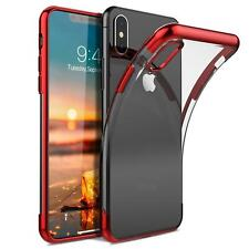 iPhone X Hülle Schutzhülle Bumper Handy Tasche Slim Cover Case Transparent