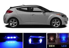 Ultra Blue Vanity / Sun visor LED light Bulbs for Hyundai Veloster (2 Pcs)