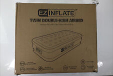 EZ INFLATE, Twin Double-High Airbed with Built-in Electric Pump