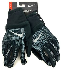 Nike Men's Therma-Fit Elite 2.0 Running Gloves Black Reflective Silver
