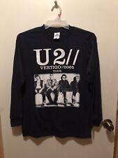 2005 U2 Black Vertigo Long Sleeve Shirt Size M