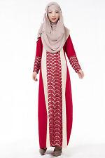 Women Muslim Long Sleeve Dress Islamic Abaya Kaftan Maxi Arab Robe Clothing XL