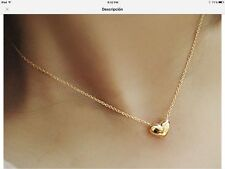 NEW FASHION JEWELRY GOLDEN HEART NECKLACE ELEGANT WOMENS CHOKER NECKLACE