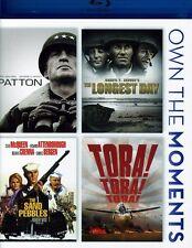 Patton/The Longest Day/The Sand Pebbles/Tora! Tora!  Blu-ray Region A BLU-RAY/WS