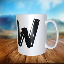 "ALPHABET LETTER -TEA/ COFFE MUGS - letter "" W "" - perfect gift"