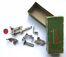 Vintage Singer feet - seam guide bias binding rolled hemmer tucker foot Simanco