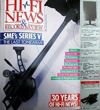 HI-FI NEWS REVOX G36 & TEAC X-2000 OPEN REEL SONY PCM-501ES SME V AR SP-11