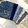 50*160CM Blau Blume Nähen Stoff Baumwolle DIY Kleidung Tischdecke Haustextilien