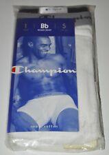 Champion 100% Cotton Ribbed White Boxer Brief 2002 Sz Small 28-30 NOS