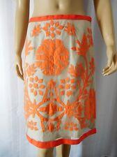ETCETERA CARLISLE Skirt size 6 beige orange flowers
