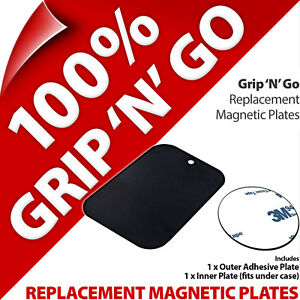 Grip 'N' Go Replacement Magnetic Plates for Magnetic Vent Mount Holder Phone MP3