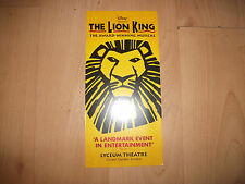 **The Lion King Flyer At Lyceum Theatre London |Good Condition**