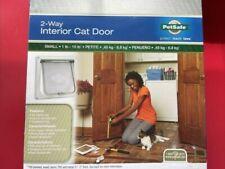 Pet Safe 2-Way Open Locking Interior Pet Door Clear Flap Small 1-15 lb White