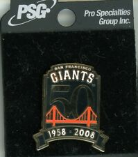 SF Giants 2008 50th Anniversary Pin NEW on card San Francisco 50 years sfg62 PSG