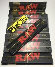 *10 FOR £8.99* Black RAW Extra Fine Kingsize Rolling Papers x10