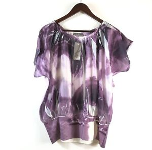 Katies Top Plus Size 16 New With Tags Silky Purple Womens Plus Size Clothing