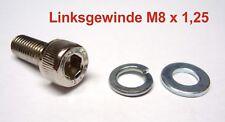 1x Gewinde Inbusschraube M8 x 1.25 Linksgewinde L = 20mm Schraube links Spiegel