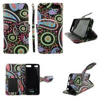 Flip Wallet Leather Case For Ipod Touch 5 5th Gener w Cover Cash id Slots Stands