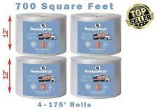 "4 Rolls Bubble Wrap Cross Cut Perforations Cushioning Shipping 700 Ft. X 12"""