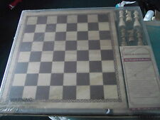 Woodfield Collection Wooden Chess & Checkers NEW SEALED PACKAGE